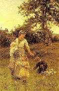 Frederick Morgan The Garland, oil painting artist