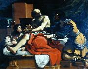 GUERCINO Jacob, Ephraim, and Manasseh, painting by Guercino oil painting reproduction