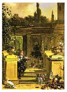 HONDECOETER, Melchior d View of a Terrace oil painting artist