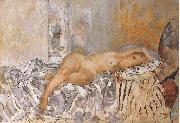 Henri Lebasque Prints Nude on Spanish Blanket oil painting artist