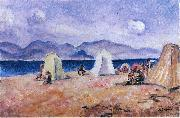 Henri Lebasque Prints On the Beach oil painting artist