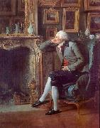 Henri Pierre Danloux Baron de Besenval in his Salon de Compagnie oil painting artist