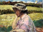 James Carroll Beckwith Lost in Thought oil painting on canvas