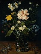 Jan Brueghel Still Life with Flowers in a Glass oil painting artist