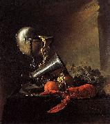Jan Davidz de Heem Still Life with Lobster and Nautilus Cup oil painting artist