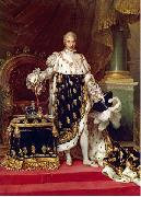Jean Urbain Guerin Portrait of the King Charles X of France in his coronation robes oil painting