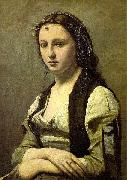 Jean-Baptiste Camille Corot The Woman with a Pearl oil