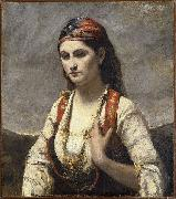 Jean-Baptiste Camille Corot Young Woman of Albano oil