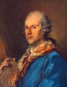 Jean-Baptiste Perronneau Portrait of Charles le Normant du Coudray oil painting on canvas