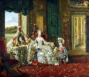 Johann Zoffany Queen Charlotte with her Two Eldest Sons oil painting reproduction