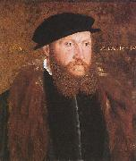 John Bettes the Elder Portrait of an Unknown Man in a Black Cap oil