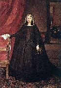 Juan Bautista Martinez del Mazo The Empress Dona Margarita de Austria in Mourning Dress oil painting artist