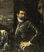 Ludovico Carracci Portrait of Carlo Alberto Rati Opizzoni in Armour oil painting artist