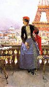 Luis jimenez aranda Lady at the Paris Exposition oil painting artist