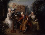 Mercier, Philippe and his sisters oil painting artist