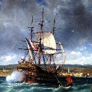 Michel Bouquet The Veteran fleeing into the shallow waters of Concarneau oil