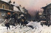 Neuville, Alphonse de The Attack at Dawn oil painting artist