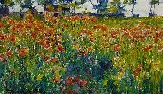Robert William Vonnoh Poppies in France oil painting artist