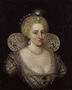SOMER, Paulus van Portrait of Anne of Denmark oil painting artist