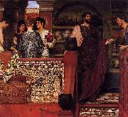 Sir Lawrence Alma-Tadema,OM.RA,RWS Hadrian Visiting a Romano-British Pottery Sir Lawrence Alma-Tadema oil painting reproduction