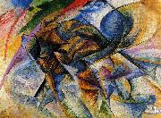 Umberto Boccioni Dynamism of a Biker oil painting