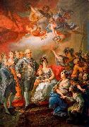 Vicente Lopez y Portana King Charles IV of Spain and his family pay a visit to the University of Valencia in 1802 oil painting