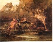 William Bell Scott Ariel and Caliban by William Bell Scott oil painting artist