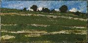 constant troyon Hillside with Rocky Outcrops oil painting artist