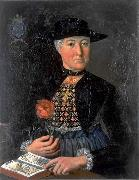 unknow artist Damenportrat Anna Maria Holzmann in Zuger Burgertracht oil painting reproduction