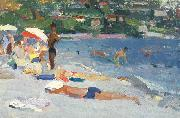 unknow artist A Beach in Evpatoria oil painting reproduction