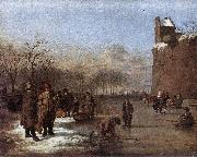 Adriaen van de Velde Amusement on the Ice oil painting