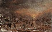 Aert van der Neer Sports on a Frozen River oil painting artist