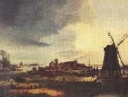 Aert van der Neer Landscape with Windmill oil painting artist