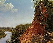 Alexey Tyranov View of the River Tosno oil painting
