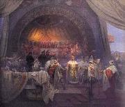 Alfons Mucha The Bohemian King Premysl Otakar II: The Union of Slavic Dynasties oil painting