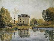 Alfred Sisley Factory on the banks of the Seine. Bougival oil painting reproduction