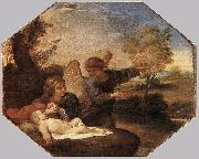Andrea Sacchi Hagar and Ishmael in the Wilderness oil painting reproduction