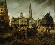Anonymous Dam Square. oil painting reproduction