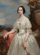 Benoit Hermogaste Molin Painting of Maria Adelaide, wife of Victor Emmanuel II, King of Italy oil painting