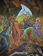 Bohumil Kubista The Raising of Lazarus oil