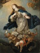 Circle of Mateo Cerezo the Younger Immaculate Virgin, formerly in the Chapel of Palacio de Penaranda, Spain oil painting