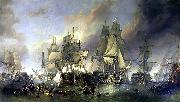 Clarkson Frederick Stanfield The Battle of Trafalgar oil painting artist