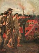 Constantin Meunier Return from the Mine oil painting