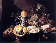 Cornelis de Heem Still-Life with Oysters, Lemons and Grapes oil painting artist