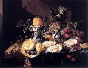 Cornelis de Heem Still-Life with Oysters oil painting artist