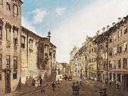 Domenico Quaglio The Residenzstrabe in front of the Max-Joseph-Platz in the year 1826 oil painting