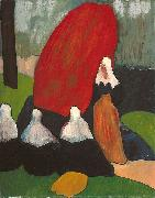 Emile Bernard Breton Women with Seaweed oil