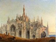 Emilio Magistretti Quasi aurora consurgens the Cathedral. General exterior view from the east oil painting reproduction