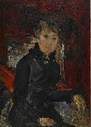 Ernst Josephson Woman dressed in black oil