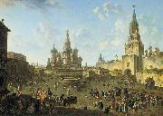 Fedor Yakovlevich Alekseev Red Square in Moscow oil painting